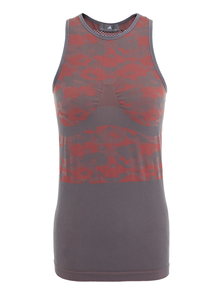 Woman Ess Ruched Stretch-jacquard Tank Anthracite Size XS Adidas By Stella Mccartney. Купить за 3250 руб. - Tank Printed Camouflage Stretch-jacquard Lattice trims Slips on Stretc...