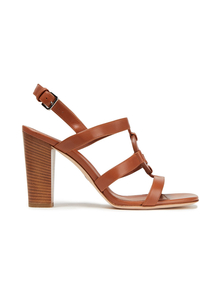 Woman Cleone Leather Sandals Light Brown Size 40 Loro Piana. Купить за 29350 руб. - Sandals Calfskin leather Round toe Block heel Buckle-fastening strap L...