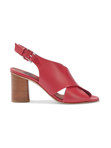Woman Emma Leather Slingback Sandals Red Size 35.5 Loro Piana. Купить за 30000 руб. - Sandals Leather Crossover straps Open almond toe Buckle-fastening slin...