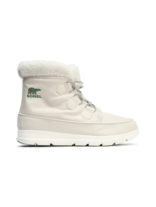 Sorel Woman Carinival Fleece-trimmed Waterproof Shell Snow Boots Off-white Size 5.5 31384045