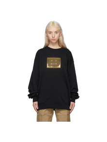 Black and Gold Metallic Patch Sweatshirt Acne Studios. Купить за 15404 руб. - Long sleeve organic cotton French terry sweatshirt in black. Rib knit ...