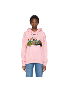 Pink Disney Edition Garden Donald Duck Hoodie Gucci. Купить за 61867 руб. - Long sleeve French terry sweatshirt in pink. Drawstring at hood. Logo ...