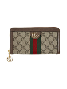 Beige GG Supreme Ophidia Wallet Gucci. Купить за 29544 руб. - Canvas wallet in beige featuring jacquard logo in brown. Grained leath...