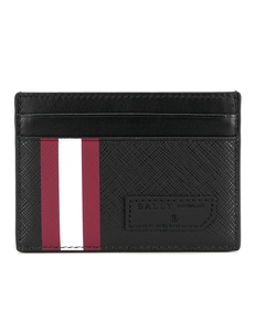 Stripe detail cardholder Bally. Купить за 6779 руб. - Black and red stripe detail cardholder from Bally.