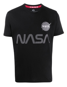 Alpha Industries Futbolka So Svetootrazhayushchim Printom Nasa 178501C