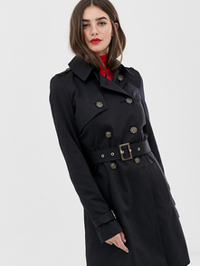 Asos Tall Trench Asos Design Tall-chernyy 26834790