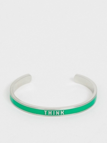 "Benetton Braslet So Slovom ""think"" Diversity Collection-zelenyy 26203507"