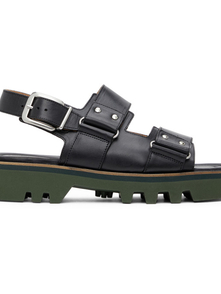 Dries Van Noten Black Leather Sandals 29803824