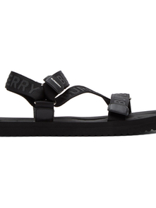 Burberry Black Jacquard Logo Sandals 29544759