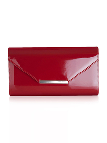 Felice Klatch FELICE_CLUTCH_BAG_F07A_MAROON RED